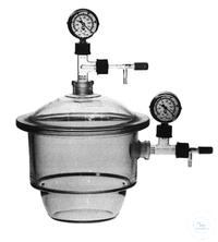 Bình hút ẩm có vòi và đồng hồ đo chân không