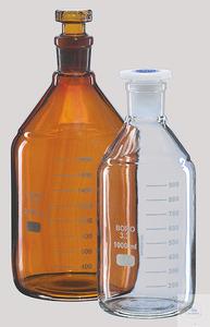 Chai nâu 1000 ml, nút nhám, chia vạch, tiệt trùng được