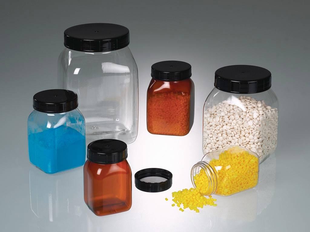 Chai nhựa PVC vuông